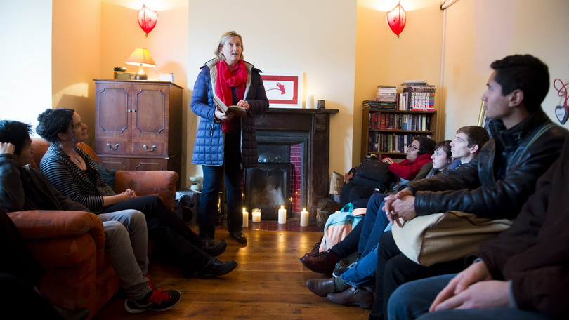 Mary Coll during a series of readings of works by Limerick writer Kate O'Brien at her former home as part of Culture Night Limerick. Picture credit: Diarmuid Greene/Fusionshooters