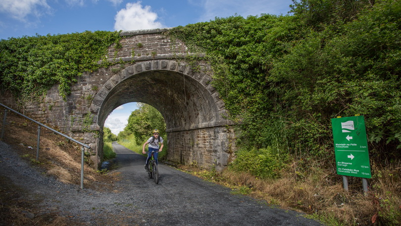 Part of the Abbeyfeale to Templeglantine stretch of the Great Southern Greenway which played host to a Family Cycle Event on the Great Southern Greenway to mark the launch of 3 town loops as part of the Greenway in Limerick