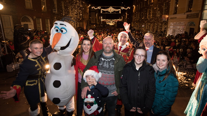 2018 Light up Limerick - Special guests Vicky Phelan and family.