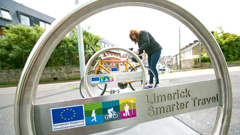Contact Limerick Smarter Travel - Canal Bicycle Parking. Pic: Brian Gavin, Press 22