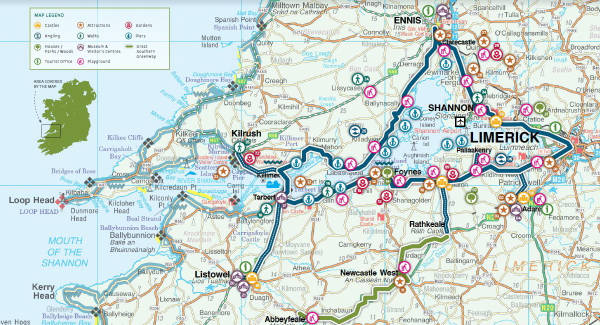 Shannon Estuary Way Map