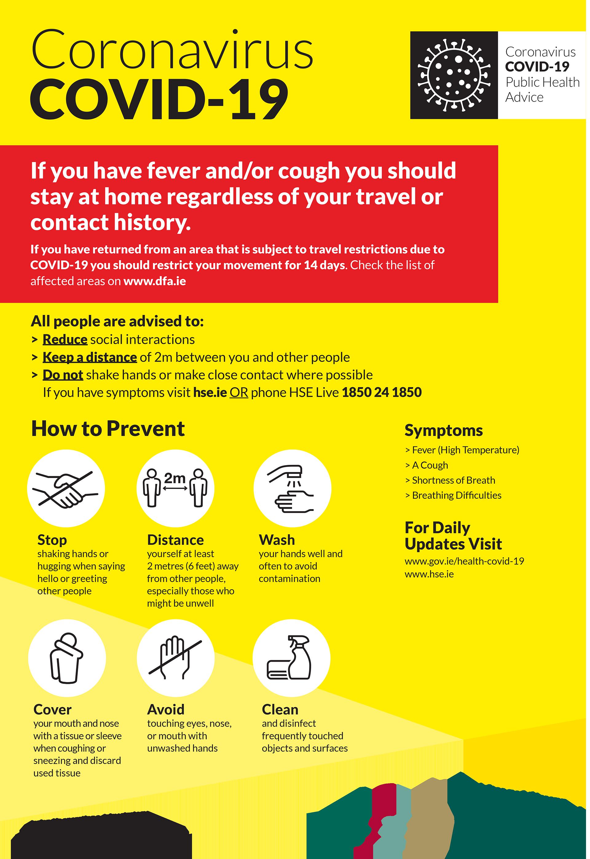 COVID-19 (Coronavirus) - HSE's Public Health Advice leaflet ...