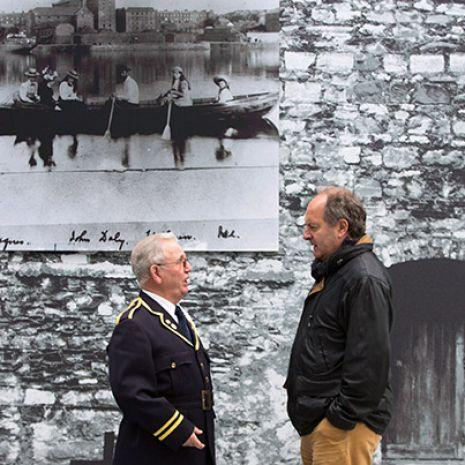 Aidan Hurley, Corbally and John Allen, Clarina at the launch of They Dreamed and are Dead: Limerick 1916, a major exhibition and publication by Limerick Museum and Archives which was launched in Limerick City Hall, Merchants Quay. Photo: Sean Curtin