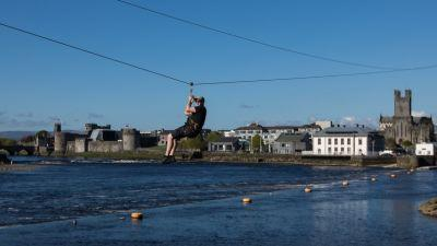Riverfest Limerick Zipline. Picture Sean Curtin True Media.