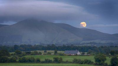 This image shows, the moon rising over Galtymore Mountain, and gives us a glimpse, of the wonders that await, in Co. Limerick. (Tom Quish)