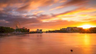 On the edge of Atlantic is the City of Limerick shining bright on the map of Europe. (Piotr Machowczyk)