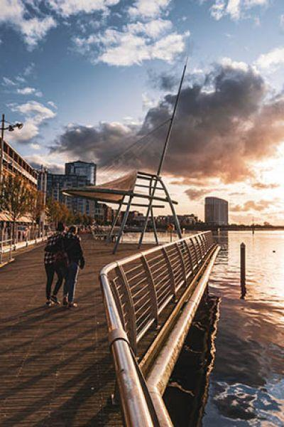 A walk by the river, the sunset and the autumn colours. I think this image evokes the warm, welcoming atmosphere of Limerick city. (Daniel Bulgarelli)
