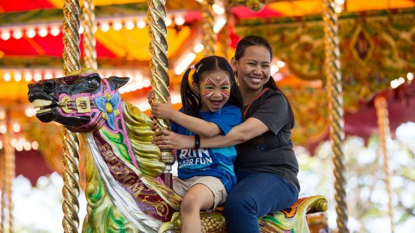 Charo and Emiko Hibionaba from the Philippines living in Tuam Galway at Riverfest Village, Arthurs Quay Park, Limerick.   Picture Sean Curtin True Media.