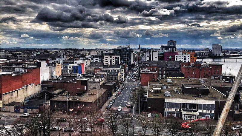 View of Limerick from the Panoramic wheel in Arthurs Quay Park (Photo: Aaron Murphy)