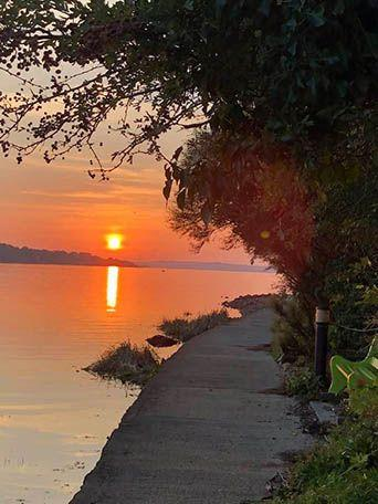 Sunset walk - This photo was taken on a section of Glin Heritage Walking Trails. Leaving Glin Town Park following a path around Knockaranna along the Shannon shore line. This path will lead you to Glin Pier. (Estelle O'Driscoll)