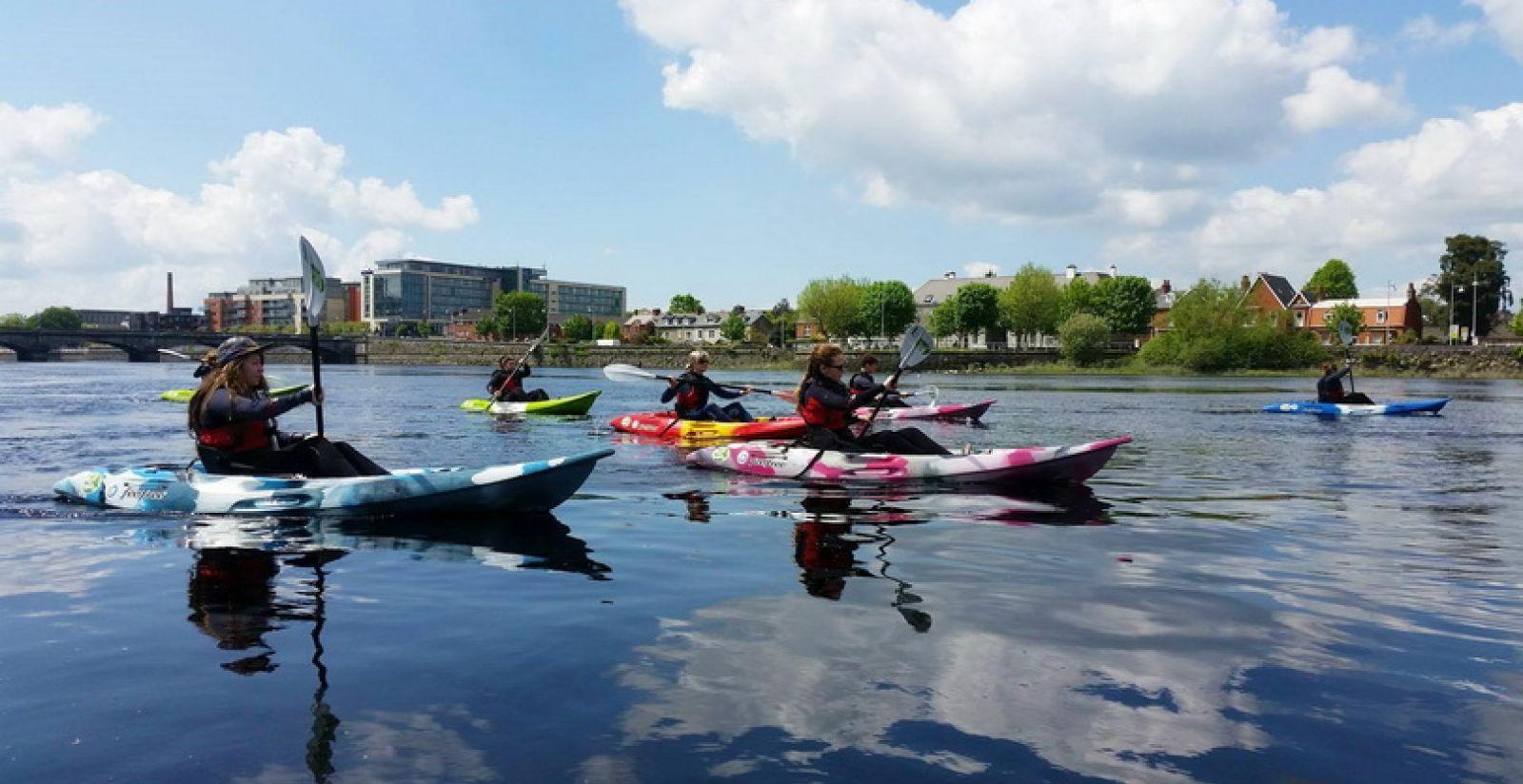 Get West Kayak on the Shannon, Limerick