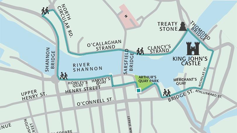 Map Walking Route The Three Bridges Walking Route | Limerick.ie Map Walking Route