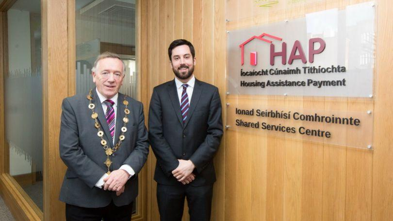 Pictured at the Granary Building, Limerick was Cllr Stephen Keary, Mayor of the City and County of Limerick and Minister Eoghan Murphy, Minister for Housing, Planning and Local Government  (Photo: Sean Curtin, True Media)