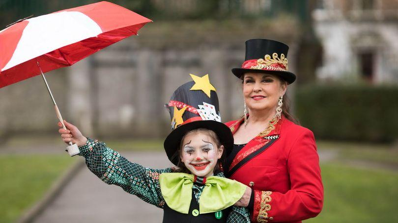 Marion Fossett, Fossett's Circus and Lucy Grace Griffin Grant, Lumen Street Theatre at the launch of Limerick's St Patrick's Festival 2018. Photo: Sean Curtin True Media