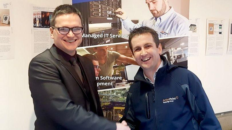 ActionPoint presents first prize to Jonathan Lloyd