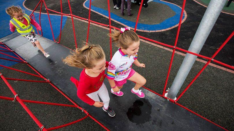 Pictured at Mungret Park and Playground were Aoife Carroll and Lexie O'Donoghue. Picture: Alan Place