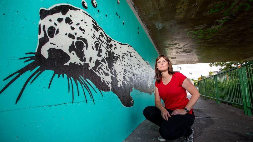Otter Mural Mary Conroy