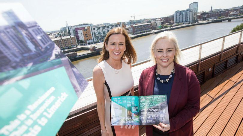 Laura Ryan, Head of Marketing and Communications, Limerick City and County Council and Dr Grainne Greehy, Director of Policy Limerick Chamber launching the new 'This is Limerick' joint marketing brochure which provides an animated snapshot of Limerick's positive and exciting success story. It can be downloaded from Limerick.ie  Picture: Sean Curtin True Media.