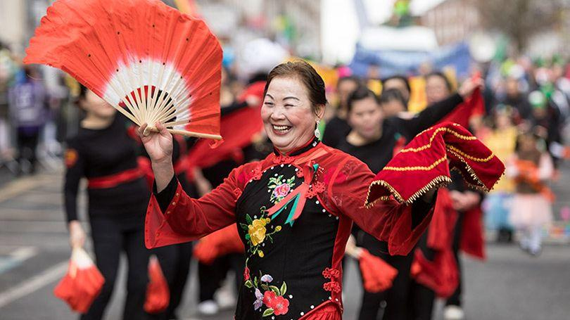 Pictured is Hong Ying at Limerick's St. Patrick's Day Parade. Photo: Sean Curtin True Media