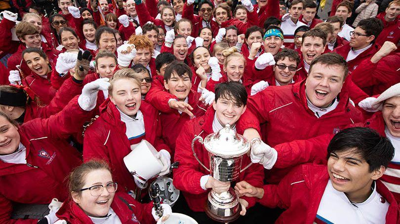 Charlotte Catholic High School, North Carolina, USA have been named as the overall winners of the 49th Limerick International Band Championship. Photo: Sean Curtin True Media