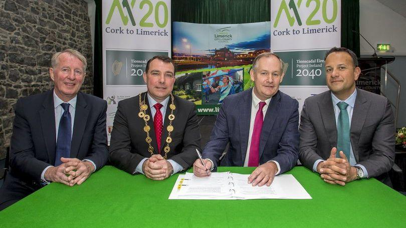 Cork Limerick M20 Project Ireland 2040 Taoiseach Leo Varadkar