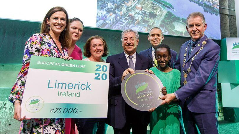 European Green Leaf 2020 awarded to Limerick. (Photo Kilian Munch)