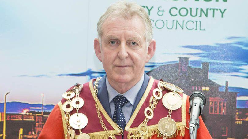 Mayor of Limerick City and County Cllr Michael Sheahan 2019 Pic Liam Burke 810x456