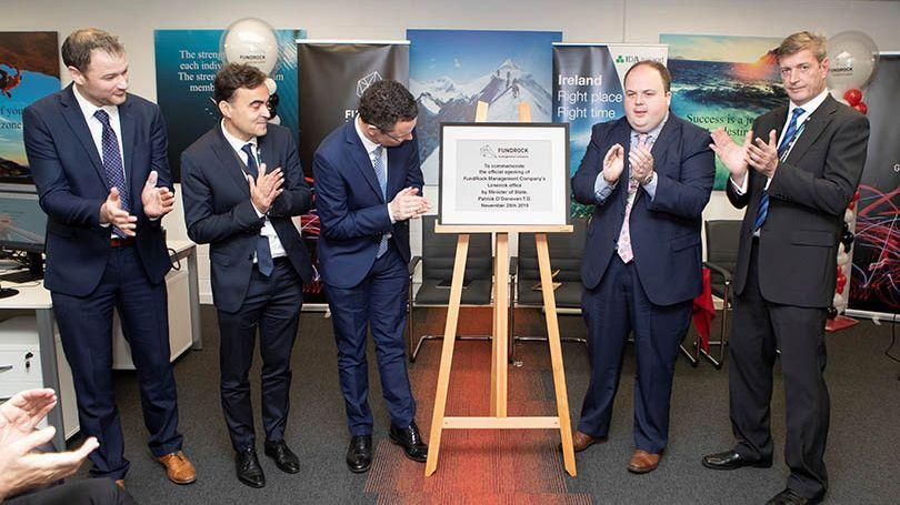 FundRock celebrates the official opening of its Limerick office