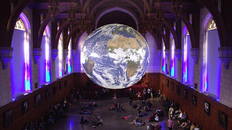 Gaia Earth Artwork by Luke Jerram