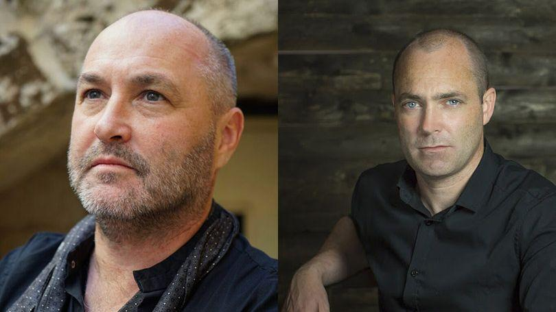 Colum McCann (Pic: Elizaboeth Eagle) and Donal Ryan (Pic: Anthony Woods).