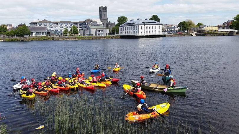 Kayaking Watersports Camps for Kids and Teens in Limerick and Clare with Nevsail