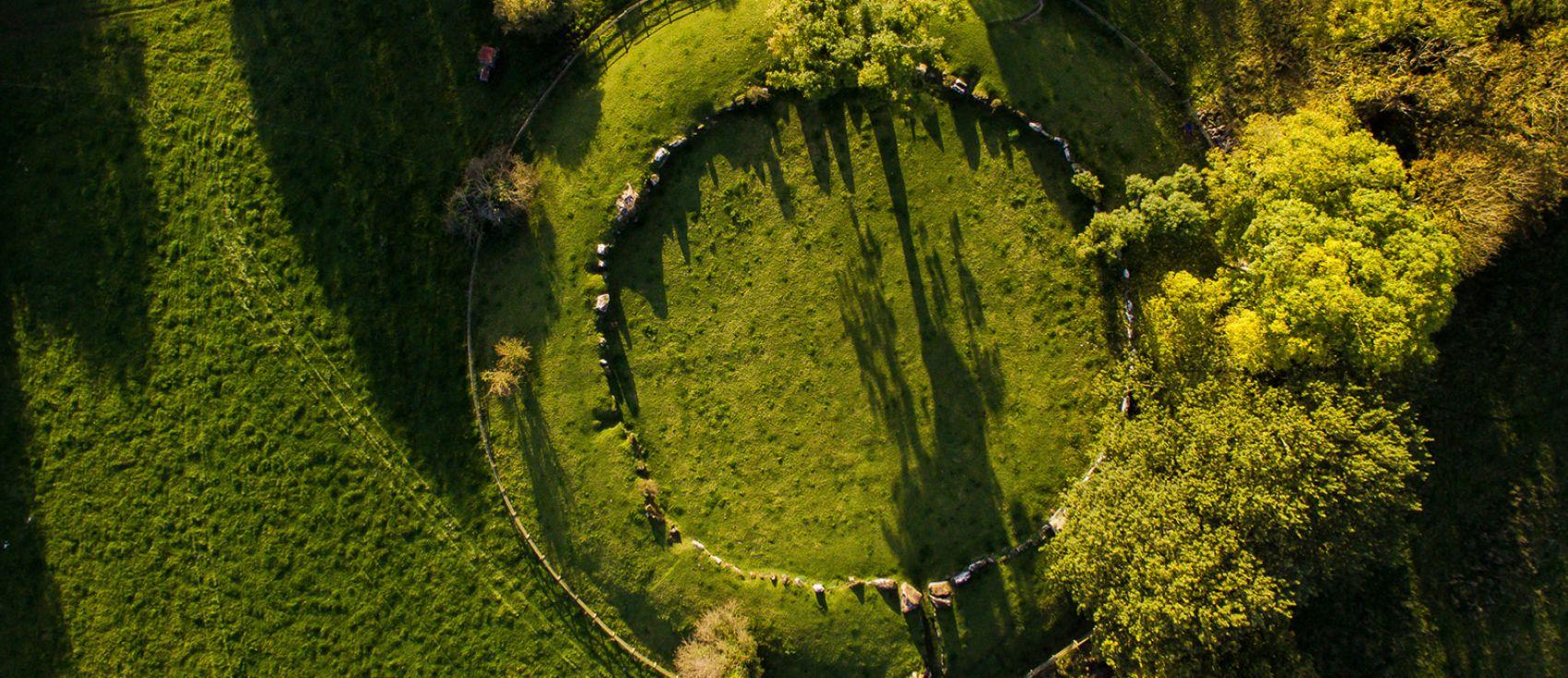 Aerial View of the Great Grange Stone Circle, Lough Gur.
