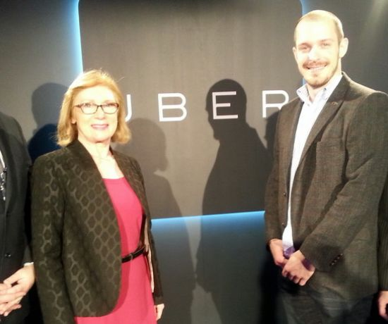 Pictured at the launch of the new Uber Centre of Excellence Offices in Limerick were Jan O'Sullivan, Minister for Education and Sean Killeen, Head of Community Operations Uber and Gerald Mitchell, Deputy Mayor of the City and County of Limerick.