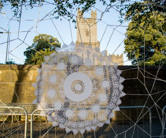 Nespoon's Lace installation near St. Mary's Cathedral