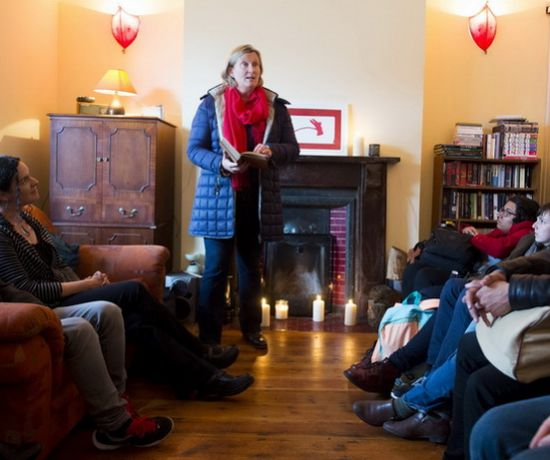 Mary Coll during a series of readings of works by Limerick writer Kate O'Brien at her former home for Culture Night Limerick. Picture credit: Diarmuid Greene/Fusionshooters