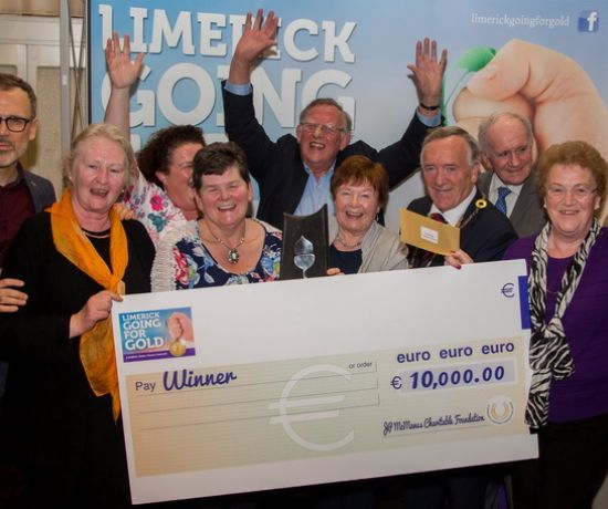 There were jubilant celebrations in The Strand Hotel, Limerick as Adare claimed the top prize in Limerick Going for Gold 2017. Picture: Alan Place