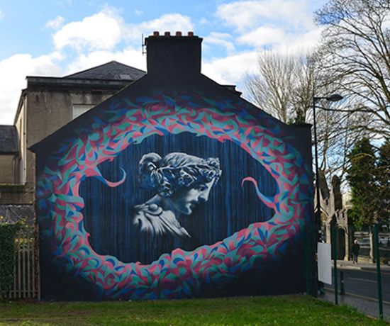 Sionna, the goddess of the River Shannon, is the inspiration behind the latest Limerick mural that's catching the public's eye as people walk and drive to and from the city centre.