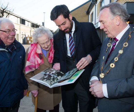 At the official opening Minister Eoghan Murphy was presented with the book A Stitch in Time - A History of Limerick Clothing Factory by Maura Stapleton, who worked in the factory (Pic: Sean Curtin, True Media)