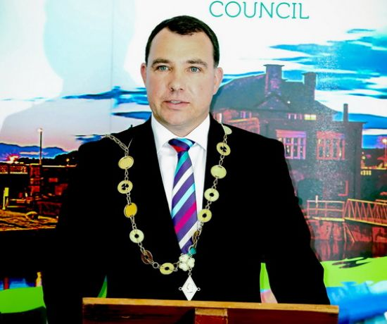 Limerick City and County Council's elected Mayor, Cllr James Collins in the Council Chambers in Dooradoyle. Picture: Keith Wiseman