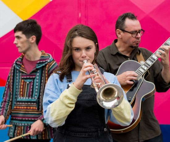 Pictured launching the Limerick Jazz Festival were, Hugh Cleary Ward, Heather Nash and Rory Keane. Picture: Alan Place