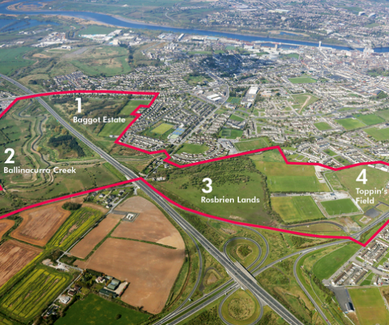 Limerick Southside Masterplan Aerial Photo