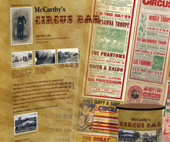McCarthys Circus Bar Travelling Exhibition