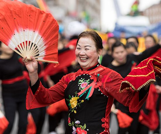 Pictured is Hong Ying at the Limerick St. Patrick's Day Parade. Photo: Sean Curtin True Media