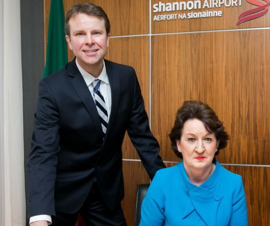 Shannon Group CEO Matthew Thomas and Chairman Rose Hynes