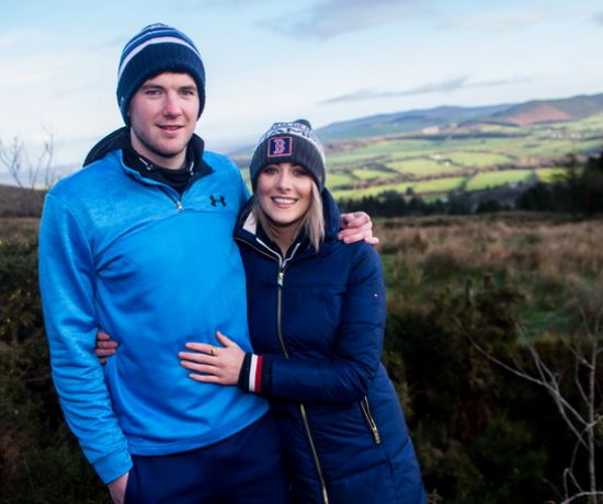 Spin South West's Louise Cantillon and Limerick Senior Hurler, Declan Hannon, at the Blackrock Trailhead on Ballyhoura Country's loop walks, County Limerick. Picture: Cian Reinhardt