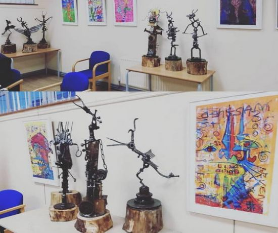 Exhibition of paintings and sculptures of Sahaja Budzilla