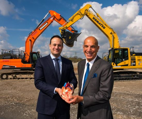 Edwards Lifesciences Breaks Ground on New Medical Technology Plant. (Pic: Diarmuid Greene)