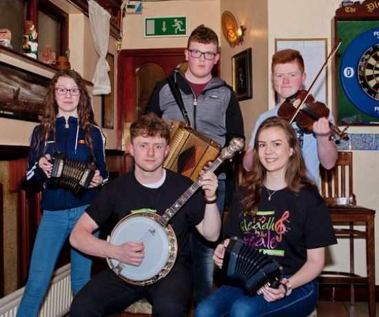 Local young musicians at the launch of Fleadh by the Feale in Abbyfeale