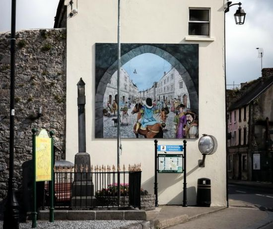 Priory Walk Kilmallock/ Mural, Sheare's Street. Pic Keith Wiseman