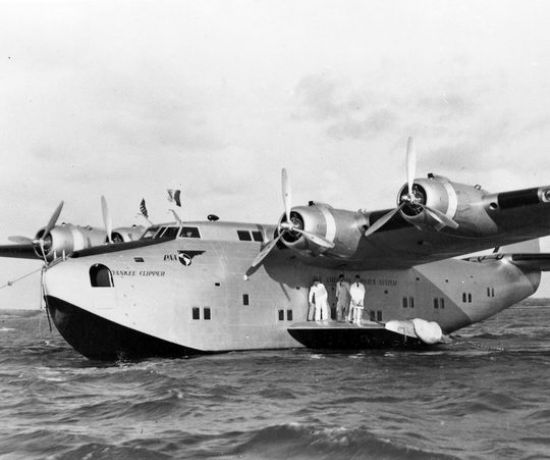 Pan American Airwaus flying boat moored at Foynes 1939